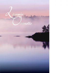 Iltausva järvellä tai merellä ja tekstinä Lämmin osanotto.