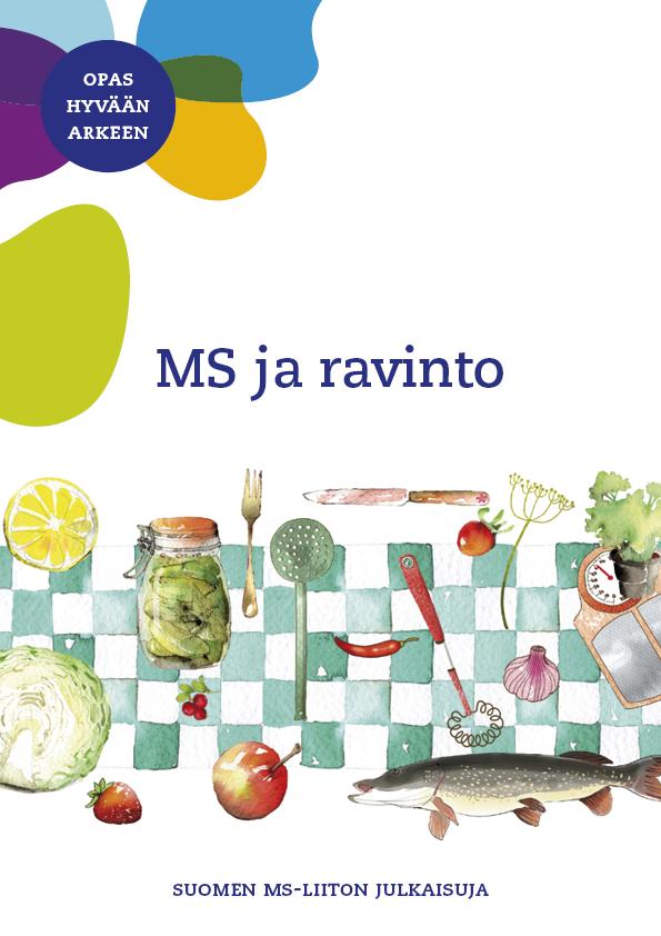 Oppaan kannessa on teksti MS ja ravinto.